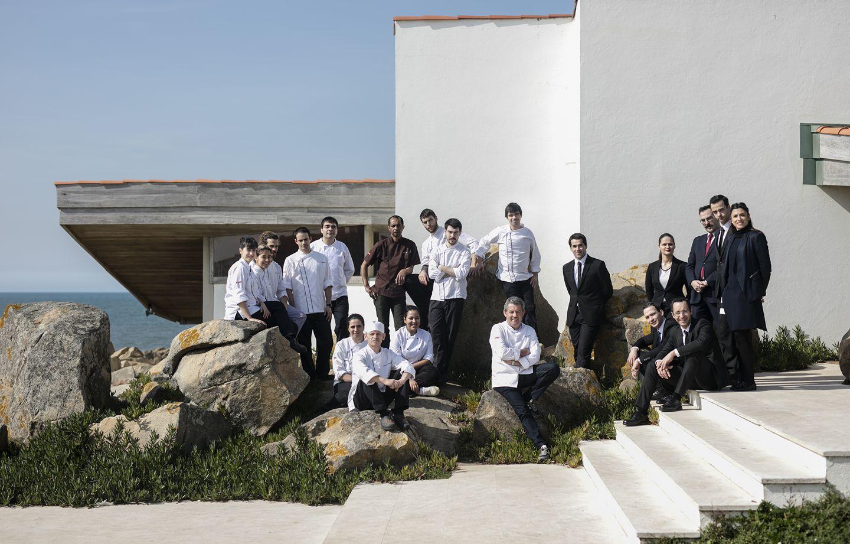 Rui Paula et son equipe - Restaurant Casa de Cha da Boa Nova - 1 etoile Guide Michelin - Leca da Palmeira - Porto