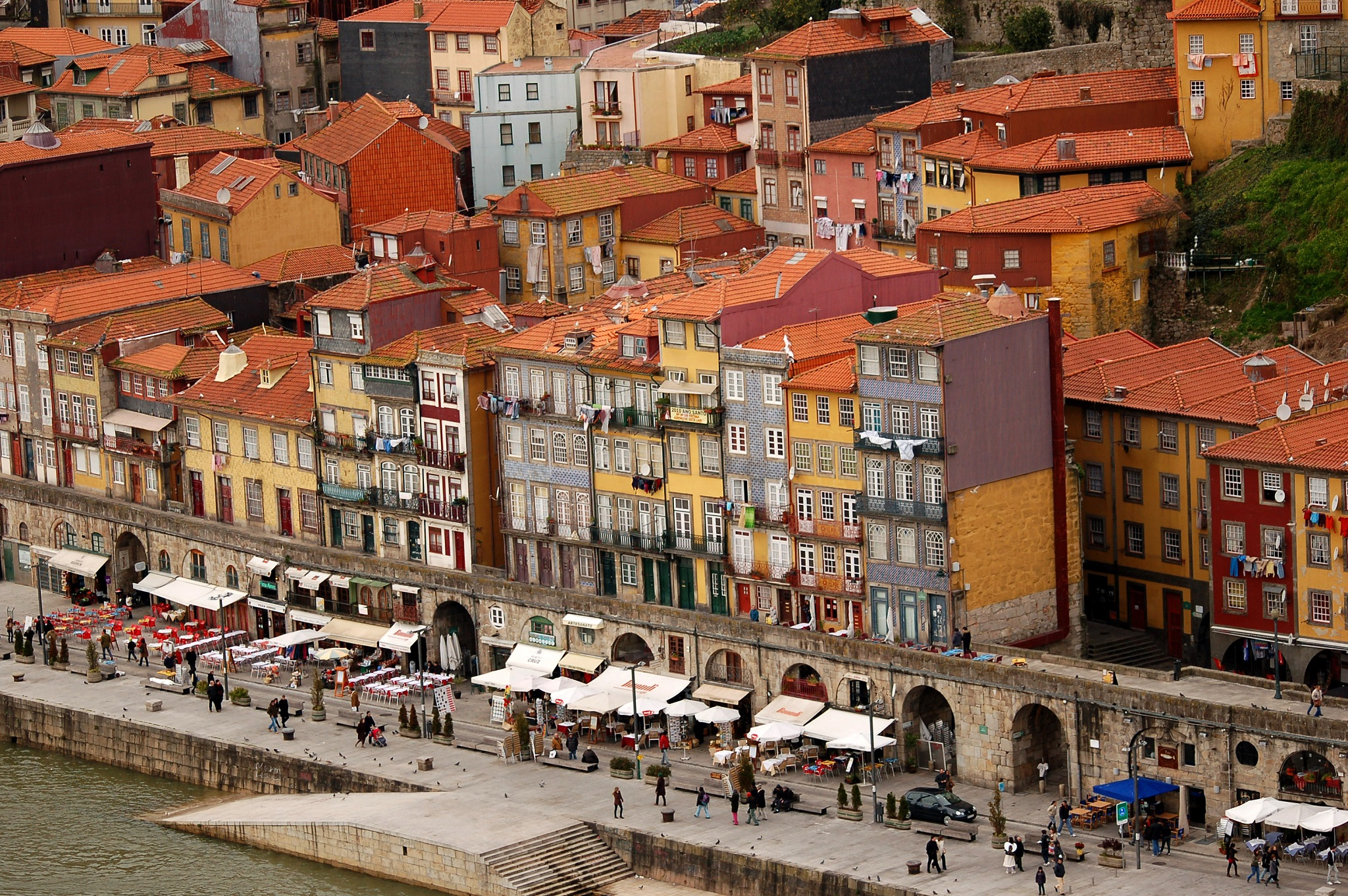 Immeubles multicolores - Quartier de Ribeira - Porto
