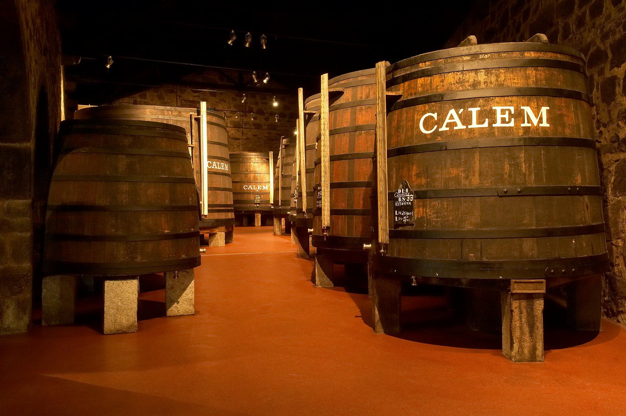 Salle de vieillissement des vins de Porto Calem - Caves Vila Nova de Gaia