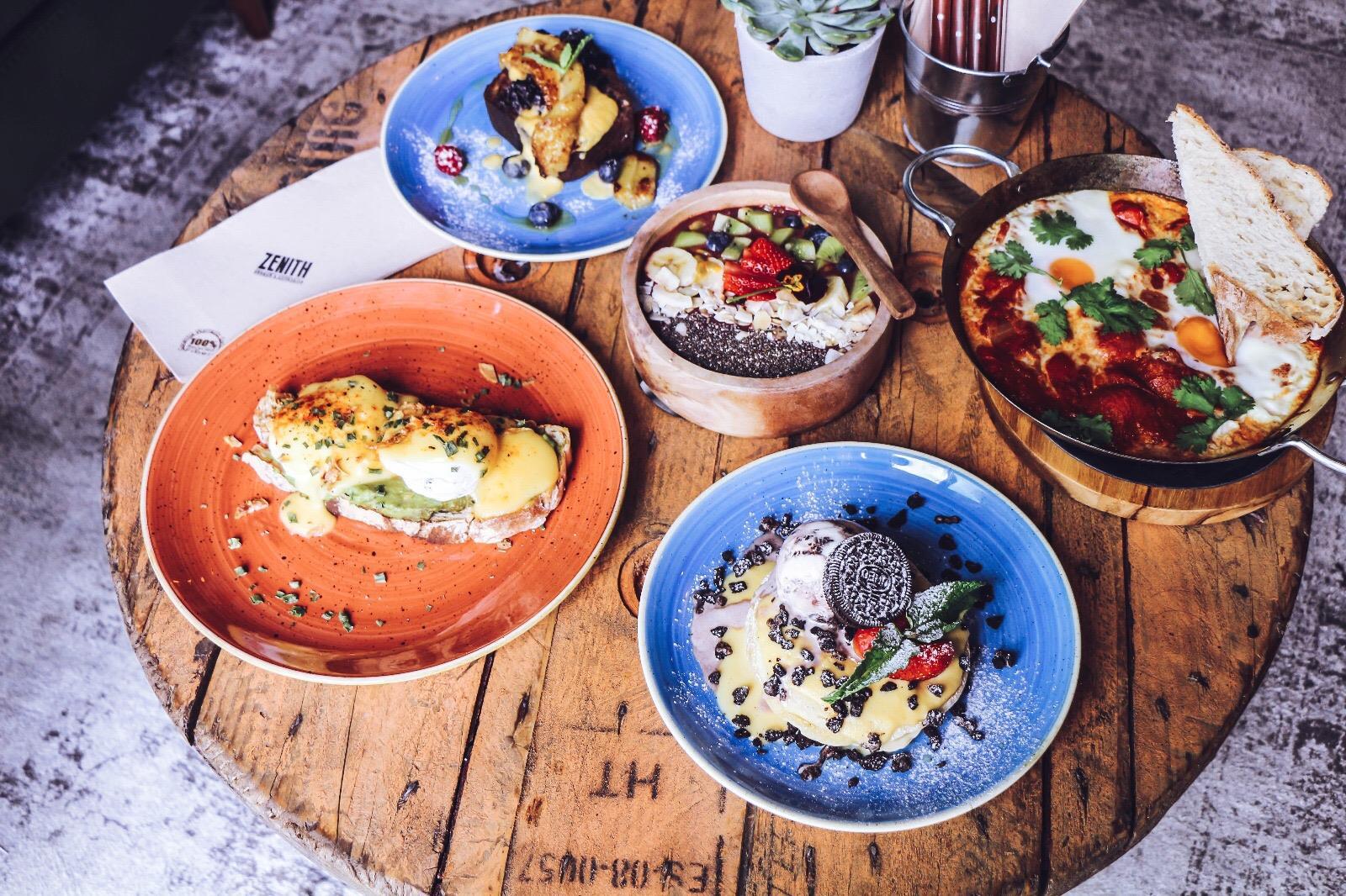 Exemples de plats du brunch du Zenith Brunch Cocktails - Porto
