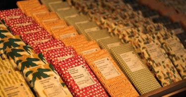 Tablettes de chocolat de la marque Equador - marque portugaise premium