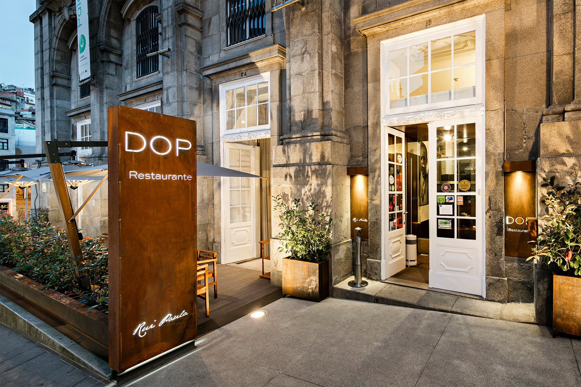 Entree du restaurant DOP - Chef Rui Paula - Porto
