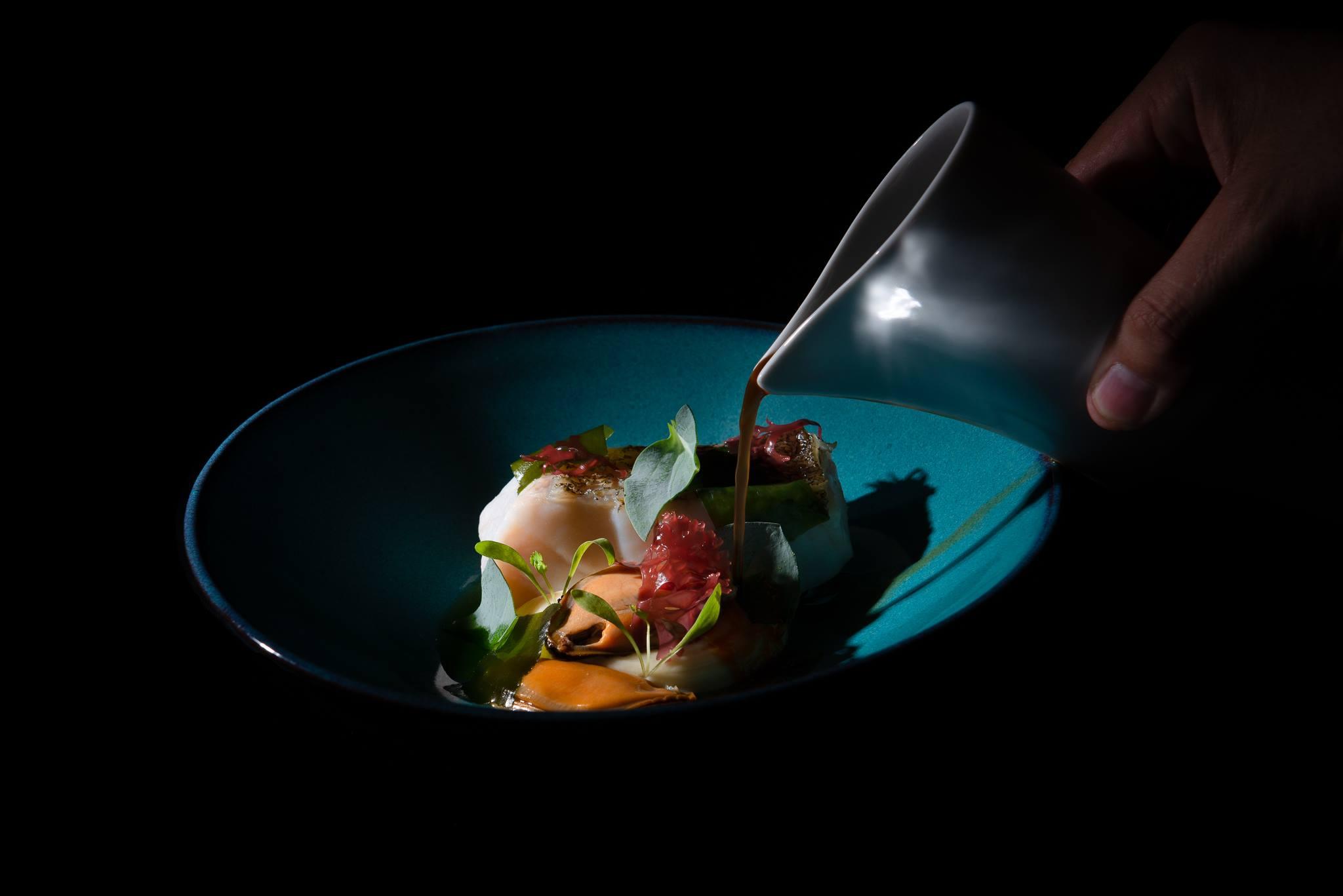 Plat Rio Douro ate a Foz - Creation de Vitor Matos au restaurant Antiqvvm de Porto