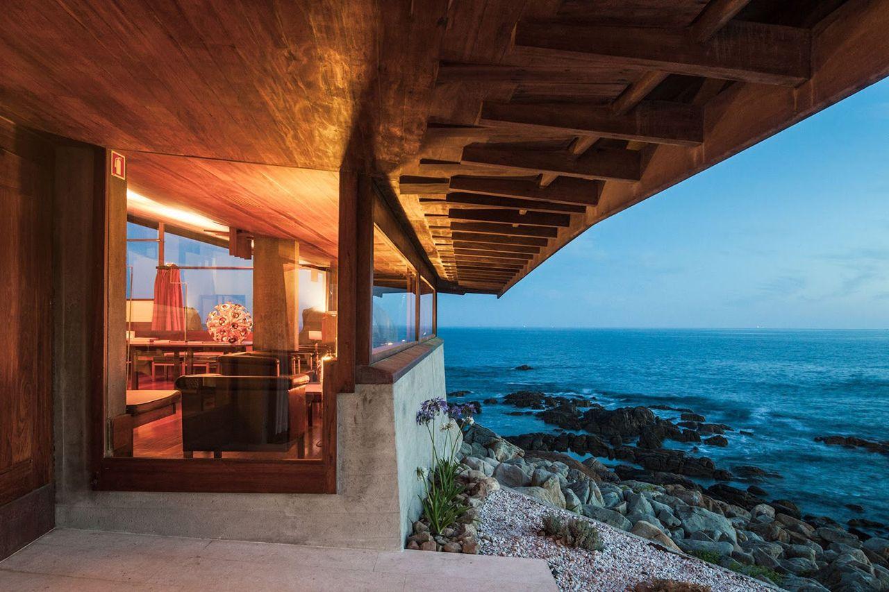 Salle du restaurant Casa de Cha da Boa Nova pres de la mer - 1 etoile Michelin - Leca da Palmeira - Porto