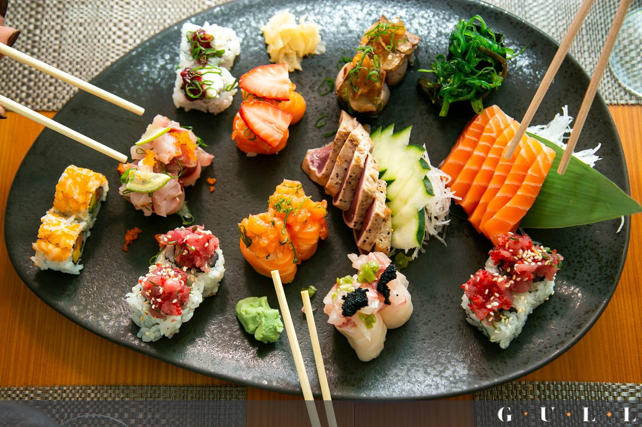 Sushis et sashimis du restaurant Gull Terrace - Porto