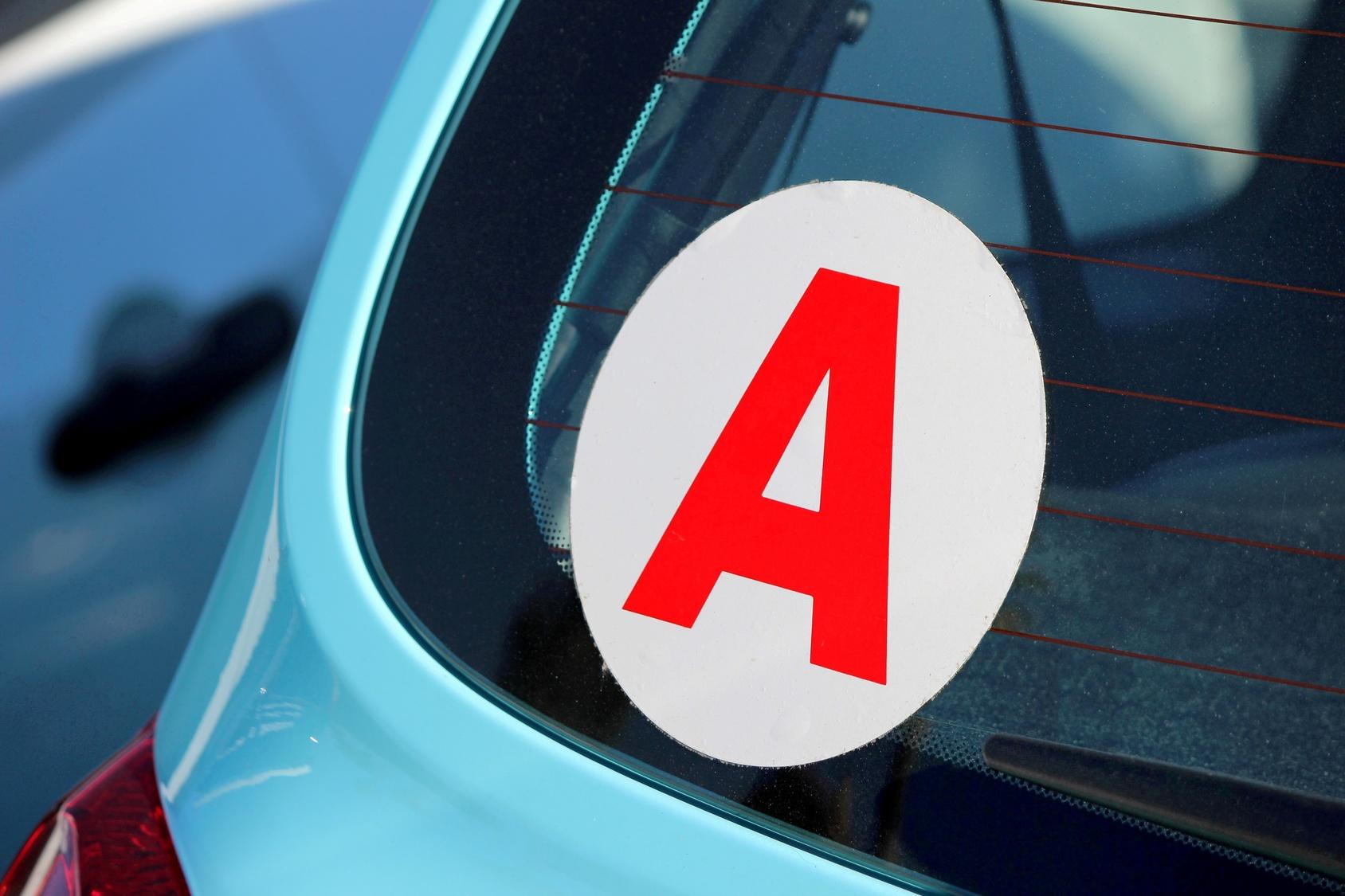 Autocollant A - Disque A sur vehicule