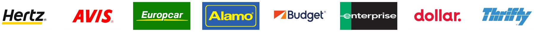 Logos compagnies de location de voiture